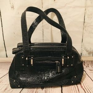NEW Jessica Simpson Faux Snakeskin Black Purse Bag